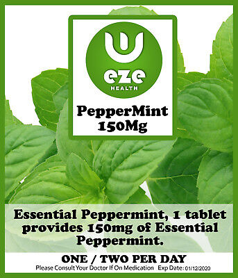 Peppermint Oil Tablets./capsules. 150 Mg Indegestion, Wind Ibs, Buy 2 Get 1 Free