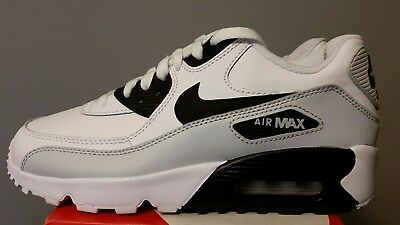 Nike Air Max 90 Leather GS Pure Platinum Grey Black White Silver 5.5Y 833412-104