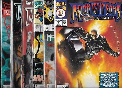 Midnight Sons Unlimited Lot Of 6 - #1#2 #3 #4 #5 #6 (Nm-) Ghost Rider, Morbius