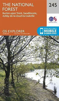 New Os Explorer Map 245 The National Forest