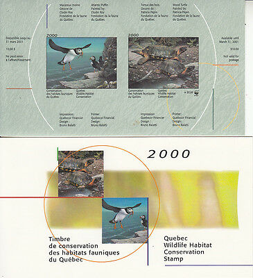 Canada MNH Quebec Conservation 2000 WWF  QW13A IMPERF  Value $ 100.00