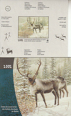 Canada MNH Quebec Conservation 2002 WWF  QW15A IMPERF  Value $ 100.00