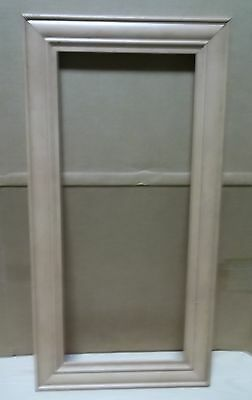 2 Frame Cabinet Doors Paint Grade Maple Open Frame 17 3/4 X 29 #64