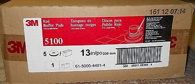 """Floor Buffing/buffer Pads, 13"""" Red 5100, Box Of 5, 175-600 Rpm's 3M Scotch-Brite"""