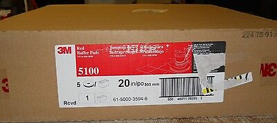 """Floor Buffing/buffer Pads, 20"""" Red 5100, Box Of 5, 175-600 Rpm's 3M Scotch-Brite"""