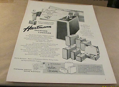 Original Old Product Ad--< 1953 >-HARTMANN VACATION LUGGAGE