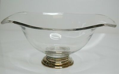 Weighted Sterling Silver & Glass Candy Dish Compote Bowl - 315g