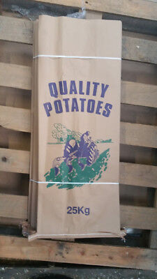 5 Potato Bags Sacks 25kg Potato Garden  Veg Paper 3 ply sack