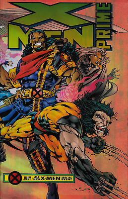 X-Men: Prime #1 (1995) Marvel , Wraparound Acetate Cover  High Grade, NM