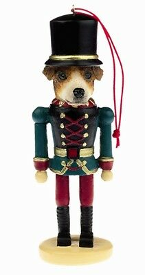 Jack Russell Terrier Dog Soldier Holiday NUTCRACKER ORNAMENT