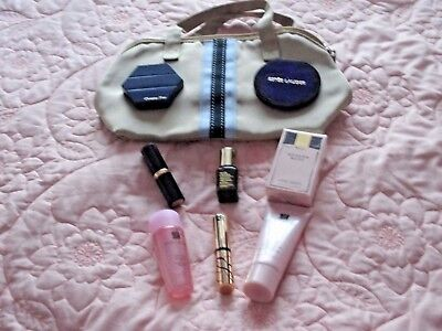 Estee Lauder Bag, Cleanser, Lotion, Night Repair, Lipstick, Dior Powder Etc