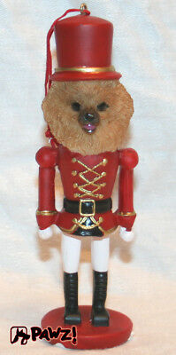 Pomeranian Dog Soldier Holiday NUTCRACKER ORNAMENT