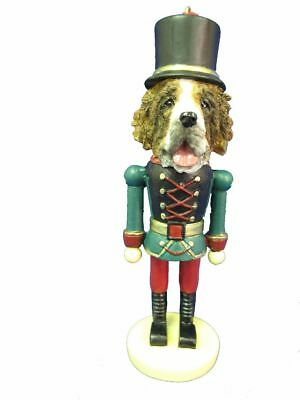 Saint Bernard Dog Soldier Holiday NUTCRACKER ORNAMENT