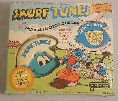 Vintage SMURFS Tunes From 1982 (MINT IN THE BOX)
