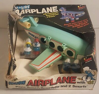 Vintage SMURFS Airplane From 1983 (MINT IN THE BOX)