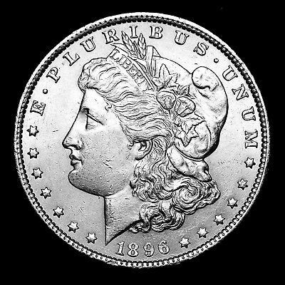 1896 P ~**ABOUT UNCIRCULATED AU**~ Silver Morgan Dollar Rare US Old Coin! #970