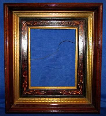 Antique 16x14 Victorian Eastlake Deep Shadow Box Wood Picture Frame for 8x10