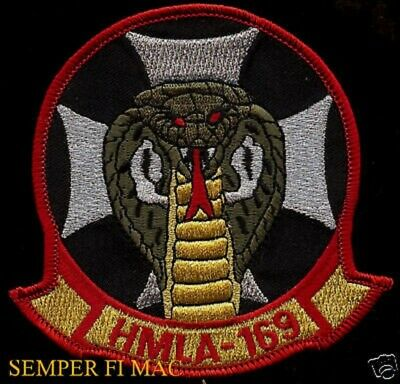 Hmla-169 Vipers Patch Authentic Us Marines Helicopter Hat Pin Up Mcas Maw Wow