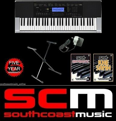 CASIO CTK4400 PORTABLE KEYBOARD with STAND, ADAPTOR & 2 DVD SET BRAND NEW
