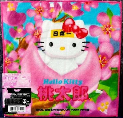 Hello Kitty X Okayama No.1 Peach Japan Limited Mini Towel (Made in Japan)