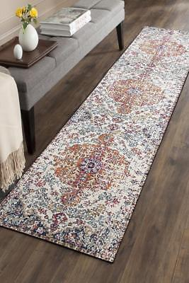 Hallway Runner Hall Runner Rug Modern Blue 3 Metres Long FREE DELIVERY Edith 452