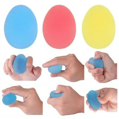 Funny Hand Grip Gel Ball Soft Finger Exercise Therapy Stress Relief Squeeze Egg