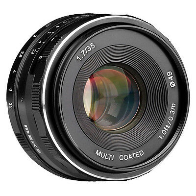 AU Stock Meike 35mm f/1.7 Sony APS-C Mirrorless Camera Manual Focus Fixed Lens