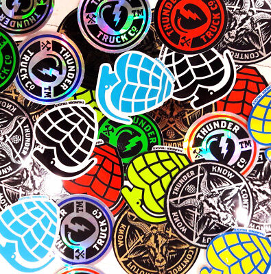 Thunder Trucks Stickers 5 Pack Assorted FREE POST Skateboard decal Sticker New
