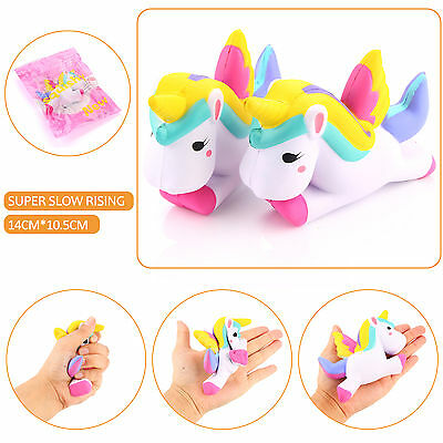 Jumbo Cute Unicorn Squishy Squeeze Relieve Stress Slow Rising Kid Funny Toy Gift
