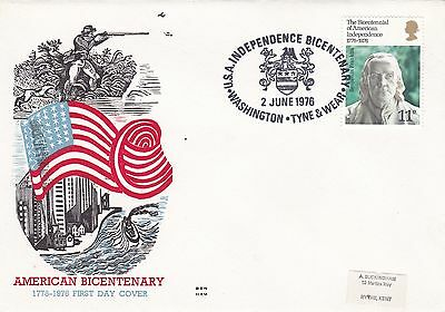 GB 1976 American Independance Bicentenary FDC Washington Special Handstamp VGC