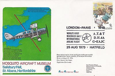 GB 1979 60th anniversary of first London-Paris commercial flight  FDC