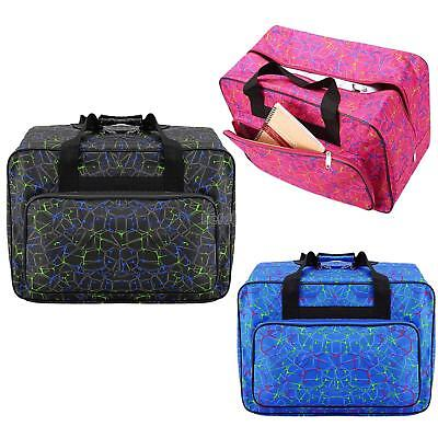 Padded Sewing Machine Bag Storage Cover Carry Case w/ Pocket and Handles