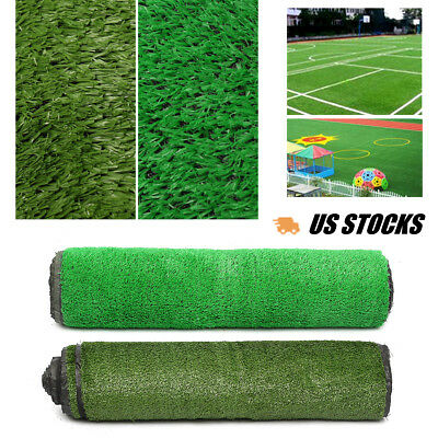 Two Size (107.6 sq ft) Artificial Turf Lawn Synthetic Landscape Fake Grass Patio