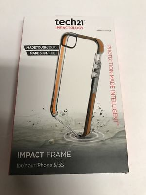 Tech21 Impact Frame Case for iPhone 5/5S - Clear/Orange
