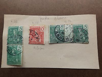 5 Timbres Colonies Francaises Indochine !!!