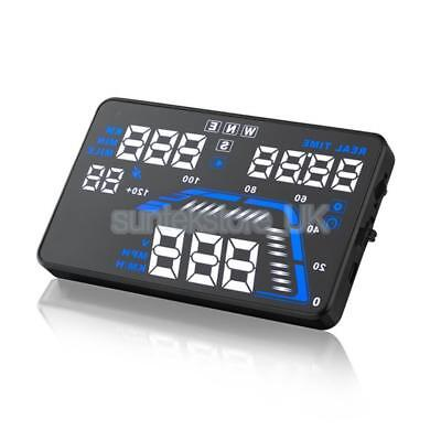 Car HUD Head Up Display Fuel Consumption Speed Meter Projector With GPS