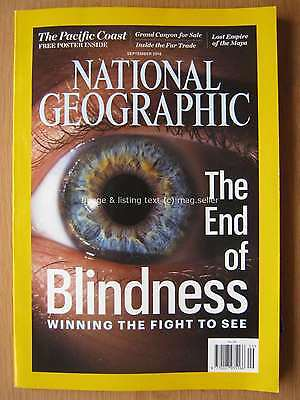 National Geographic September 2016 End of Blindness Lost Empire of the Maya