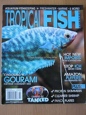 Tropical Fish Hobbyist February 2014 Gourami Amazon Pufferfish Shrimp Platies
