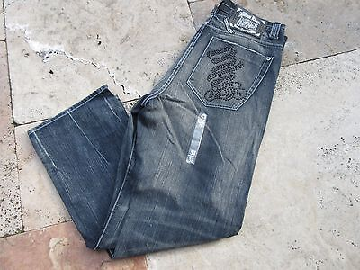 Denim Jeans Jeanius House Home of the Dark Nights Vintage Style 80s Old Skool 38