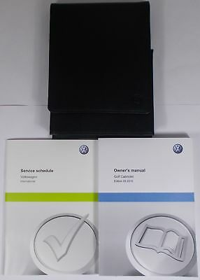 Vw Golf Mk6 Cabriolet Leather Owners Manual Handbook Service Book Pack Wallet