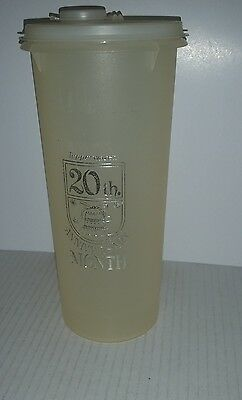 Tupperware 1966 20th Anniversary plastic container & lid