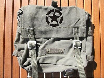 BW Kampftasche klein Oliv m Gurt & Allied Star US Army Brotbeutel Combat Bag