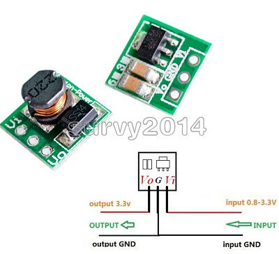 DC-DC 1V 1.2V 1.5V 1.8V 2.5V 3V to DC 3.3V Step-UP Boost Power Supply Converter