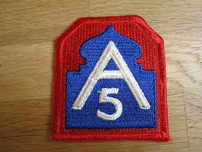 "Original Patch ""US 5th Arm"" Division Aufnäher Abzeichen USA"