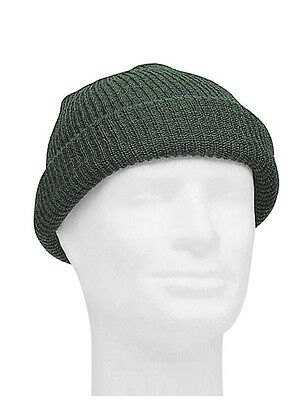 US Army Watch Cap Olive OD One Size Beanie Knitted Cap Hat Round Cap WWII WK2