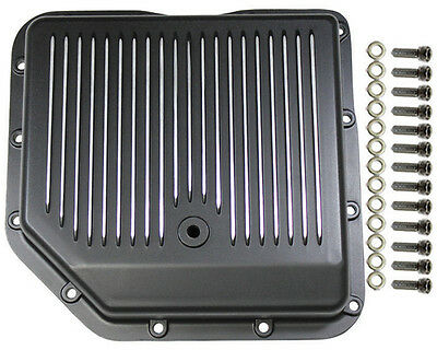 Chevy Aluminum Finned Black TH-350 TH350 Turbo 350 Transmission Pan Trans