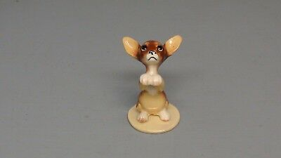 Hagen Renaker DW Specialty Pedigree Brown Chihuahua Puppy on Base