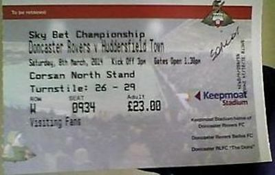 DONCASTER ROVERS v HUDDERSFIELD TOWN 2013-14 CHAMPIONSHIP  MATCH TICKET
