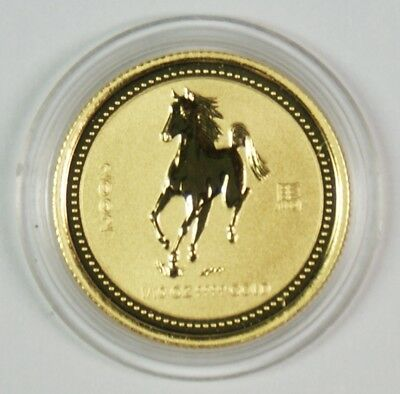 2002 $15 Australia 1/10 Oz. Gold Lunar Year of the Horse Commemorative Coin