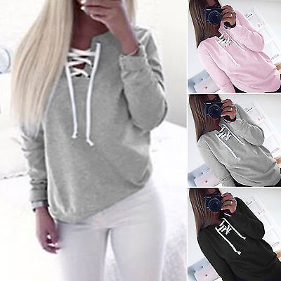 Women's Sweatshirt Long Sleeve Hoodie Casual Autumn Jumper Pullover Tops Shirt